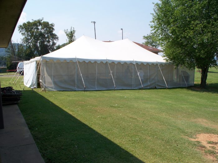 30x45 White Pole Tent