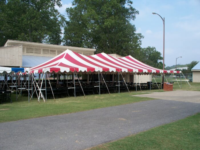 30x60 Red/White Pole Tent