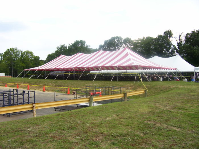 40x100 Red/White Pole Tent