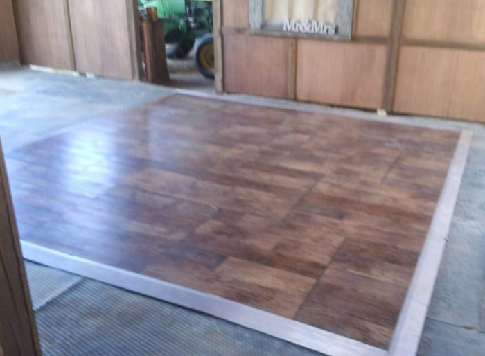 12x12 Dark Weathered Dance Floor