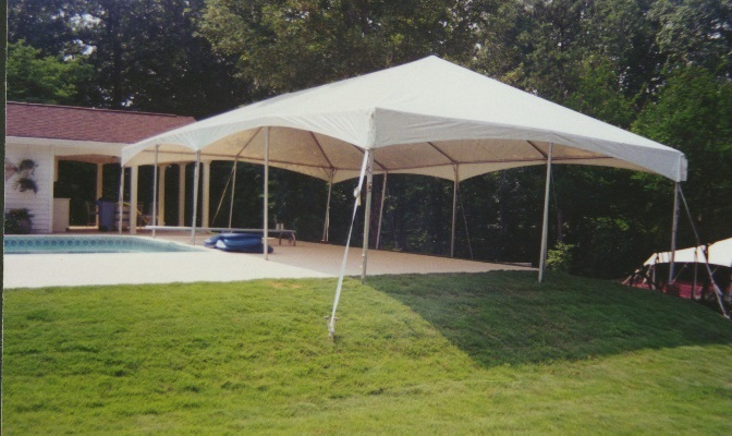 20x40 White Frame Tent