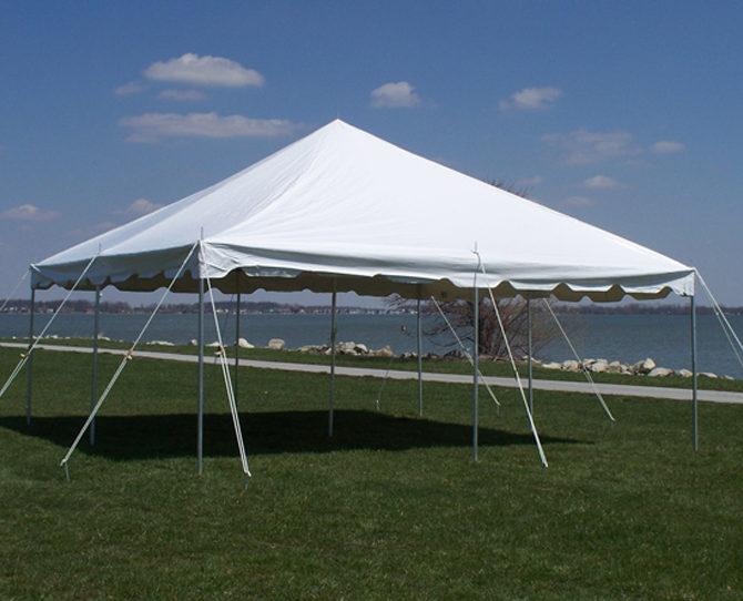 20x20 White Pole Tent