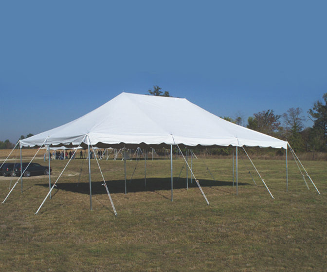 20x30 White Pole Tent