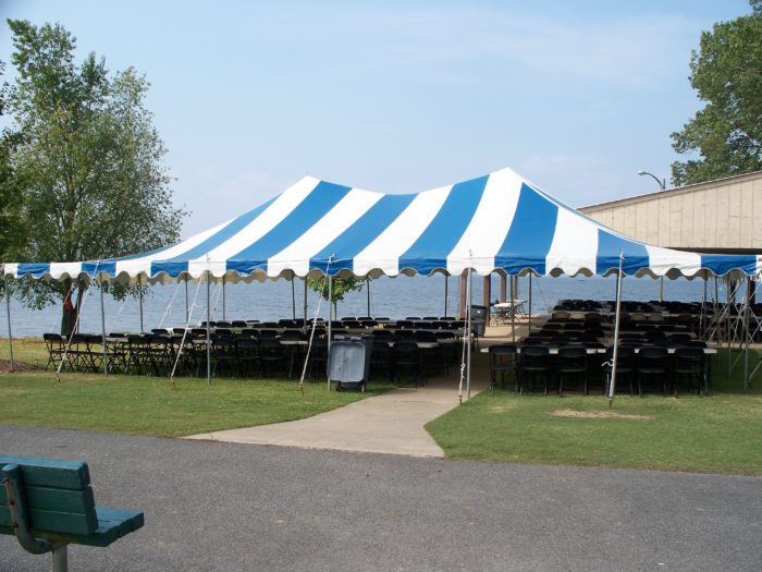 30x45 Blue/White Pole Tent