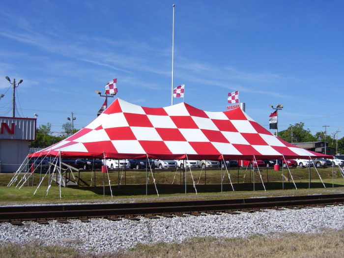 30x60 Red/White Checkered Tent