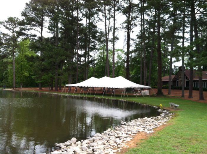 30x60 White Pole Tent