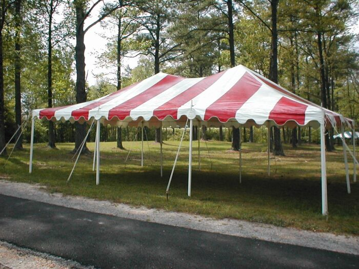 20x30 Red/White Pole Tent