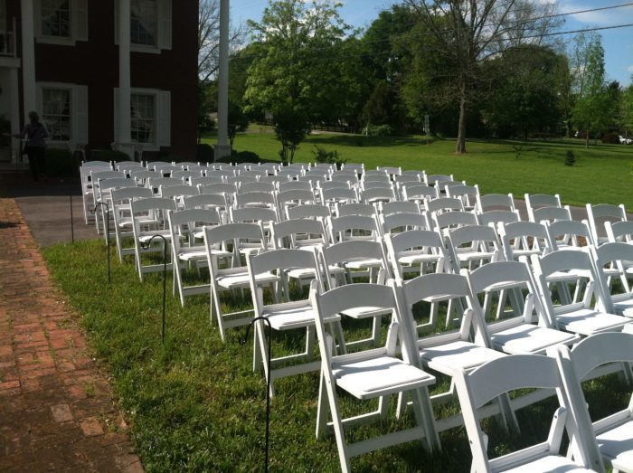 White Padded Resin Chairs